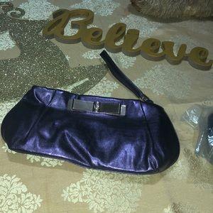 VS clutch/ makeup bag Metallic Purple